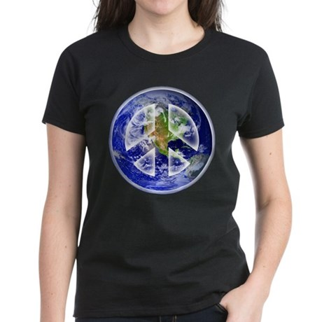 Peace on Earth Women's Dark T-Shirt