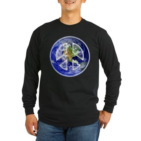 Peace on Earth Long Sleeve Dark T-Shirt