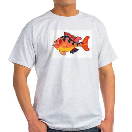 Colorful Fish Ash Grey T-Shirt