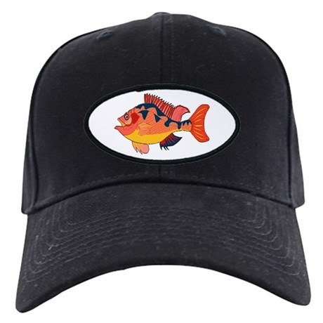 Colorful Fish Black Cap