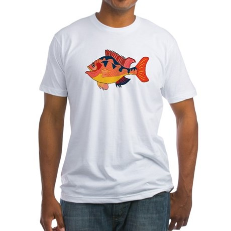 Colorful Fish Fitted T-Shirt