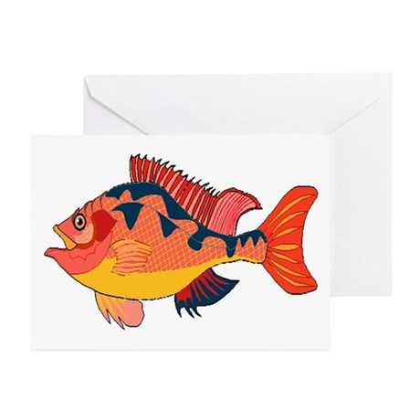 Colorful Fish Greeting Cards (Pk of 10)