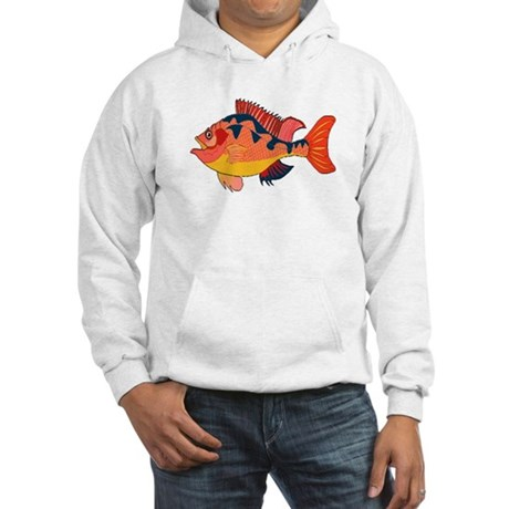 Colorful Fish Hooded Sweatshirt