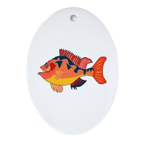 Colorful Fish Oval Ornament
