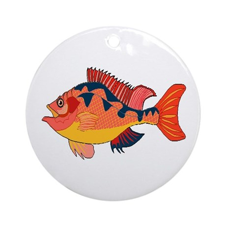 Colorful Fish Ornament (Round)