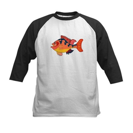 Colorful Fish Kids Baseball Jersey