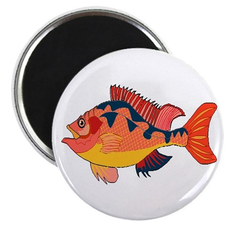"Colorful Fish 2.25"" Magnet (10 pack)"