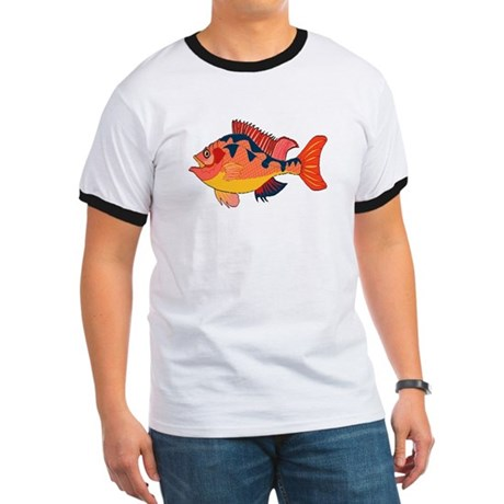 Colorful Fish Ringer T