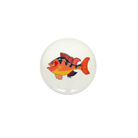 Colorful Fish Mini Button