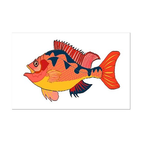 Colorful Fish Mini Poster Print