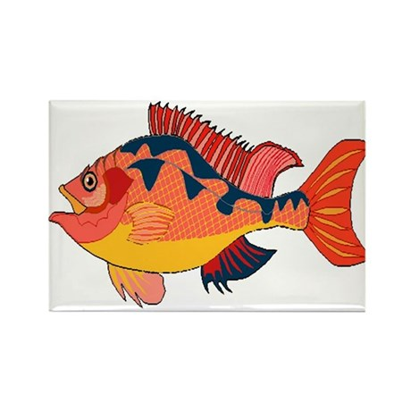 Colorful Fish Rectangle Magnet