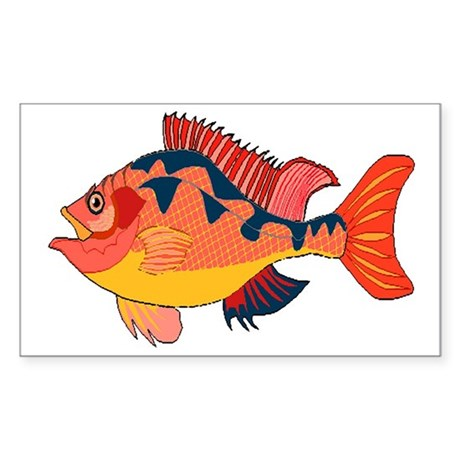 Colorful Fish Rectangle Sticker