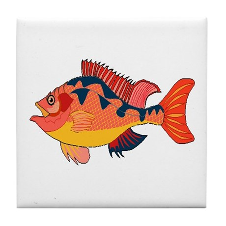 Colorful Fish Tile Coaster