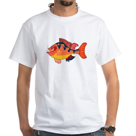 Colorful Fish White T-Shirt