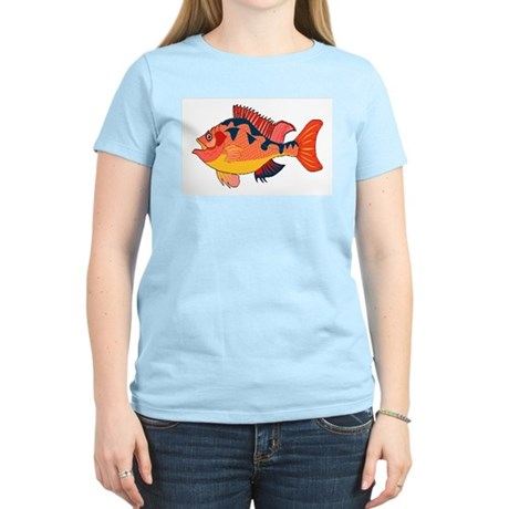 Colorful Fish Women's Pink T-Shirt