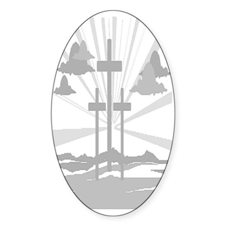 Calvary Oval Sticker