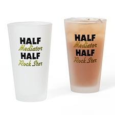 Half Mediator Half Rock Star Drinking Glass