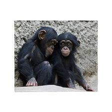 Chimpanzee002 Throw Blanket