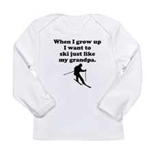 Ski Like My Grandpa Long Sleeve T-Shirt