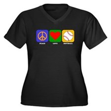 Peace Love Softball Plus Size T-Shirt