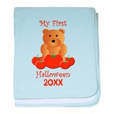 My First Halloween Customizable Year baby blanket