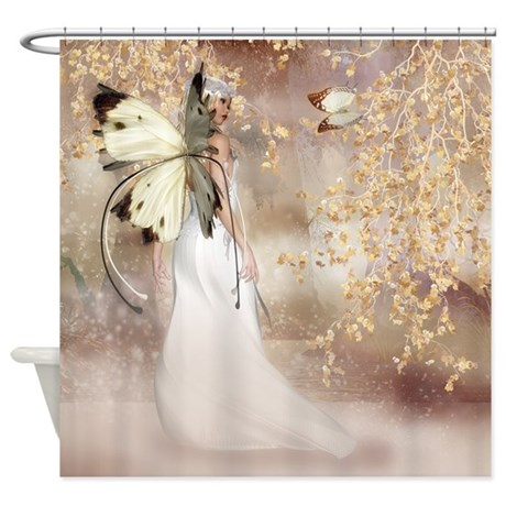 Fantasy fairy imbolc spirit shower curtain by moonlakedesigns for Fantasy shower curtains