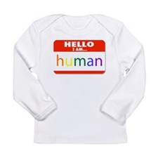 HELLO I AM... human Long Sleeve T-Shirt
