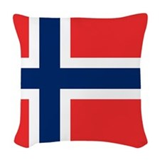 Flag of Norway Woven Throw Pillow