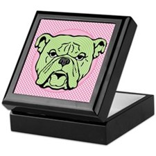 Halftone Bulldog Keepsake Box