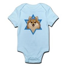 Hanukkah Star of David - Pom Infant Bodysuit