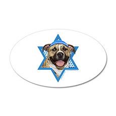 Hanukkah Star of David - Pitbull 20x12 Oval Wall D