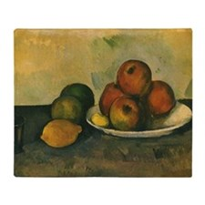 Still Life with Apples by Cezanne Throw Blanket