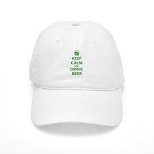 Keep calm and drink beer St. Patricks day Baseball Cap