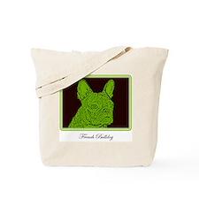 French Bulldog Rec (Green) Tote Bag
