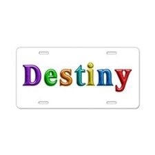 Destiny Shiny Colors Aluminum License Plate