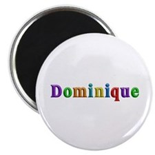 Dominique Shiny Colors Round Magnet 10 Pack