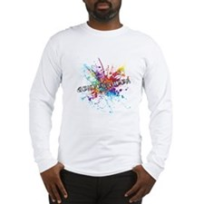 Rainbow Splash Genderqueer Long Sleeve T-Shirt