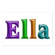 Ella Shiny Colors Postcards 8 Pack