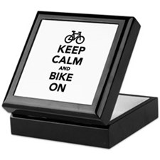 Keep calm and bike on Keepsake Box