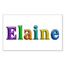 Elaine Shiny Colors Rectangle Decal