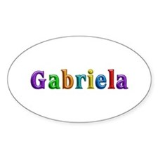 Gabriela Shiny Colors Oval Decal