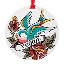 vegan tattoo design Ornament