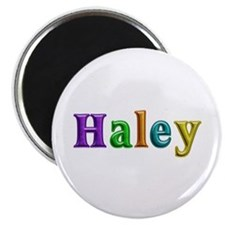 Haley Shiny Colors Round Magnet 10 Pack