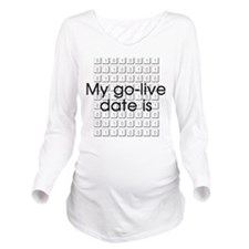 Binary Due Date September Long Sleeve Maternity T-