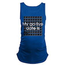 Binary Due Date December Maternity Tank Top
