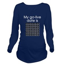 Binary Due Date January Long Sleeve Maternity T-Sh