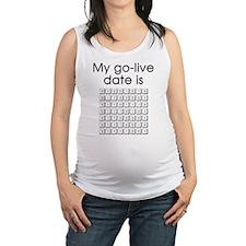 Binary Due Date January Maternity Tank Top