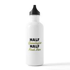 Half Gemologist Half Rock Star Water Bottle