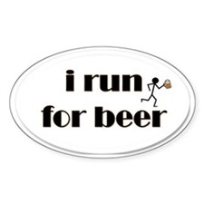 i run for beer Decal