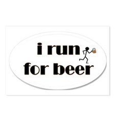 i run for beer Postcards (Package of 8)